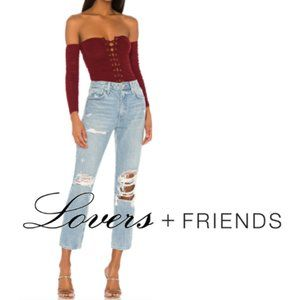 LOVERS + FRIENDS Logan High Rise Destroyed Jean